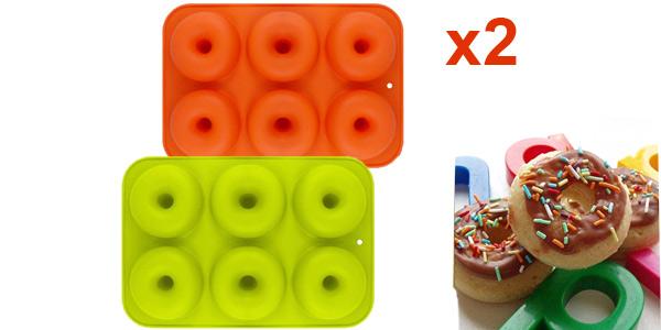 Set x2 Moldes para donuts Yikef de silicona baratos en Amazon