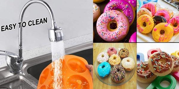 Set x2 Moldes para donuts Yikef de silicona chollo en Amazon