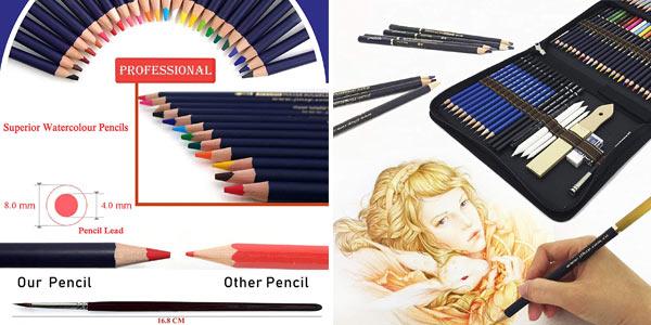 Set x72 Piezas de Lápices de colores profesional chollo en Amazon