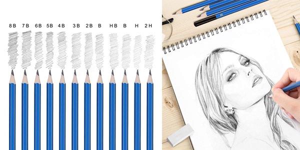 Set x72 Piezas de Lápices de colores profesional chollazo en Amazon