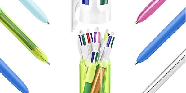Pack x6 bolígrafos BIC 4 Color en bote con forma de bolígrafo chollo en Amazon