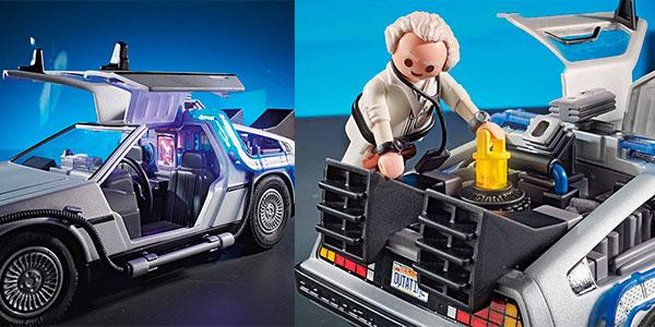 Set Delorean de Regreso al Futuro de Playmobil con 3 figuras barato