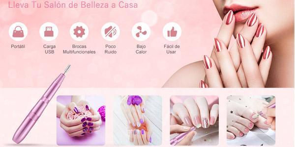 Set de manicura y pedicura profesional Ekupuz con torno para uñas + 11 brocas chollo en Amazon