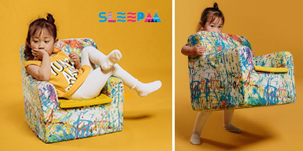 Sillón infantil desenfudable SleeAA para bebé hasta los 4 años chollo en Amazon