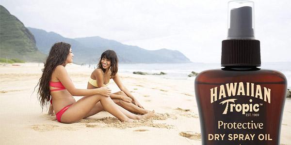 Aceite Protector Solar Hawaiian Tropic Dry Oil en Spray de 200 ml barato en Amazon