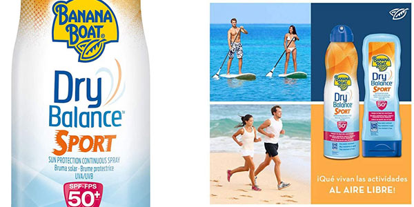 Banana Boat Dry Balance Sport SPF50 de 220 ml chollo en Amazon