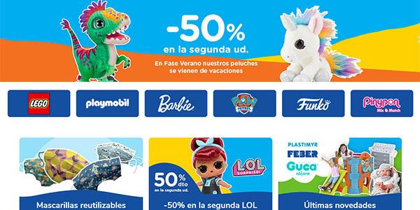 ToysRus segunda unidad al 50% de descuento vernao 2020