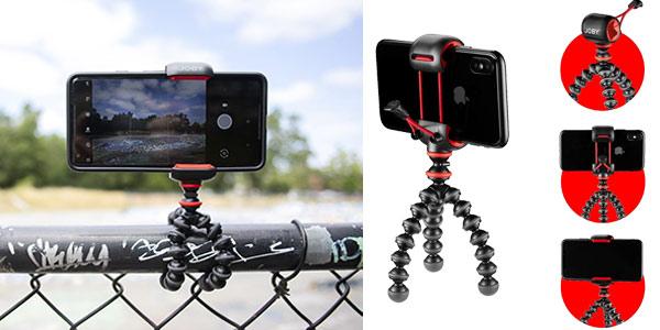 Mini Trípode Flexible Joby GorillaPod con pinza universal para smartphone chollazo en Amazon
