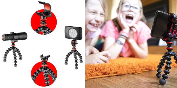 Mini Trípode Flexible Joby GorillaPod con pinza universal para smartphone chollo en Amazon