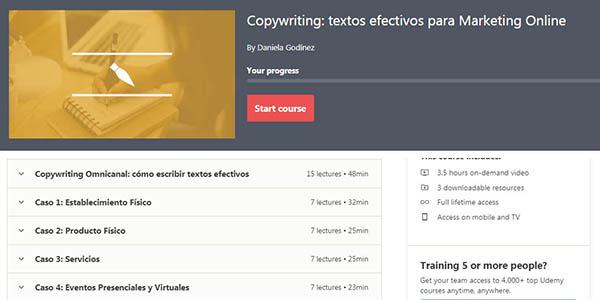 Udemy curso gratis de copywriting marketing digital gratuito