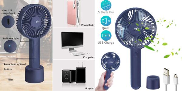 Ventilador USB TedGem de 2.000 mAh chollazo en Amazon