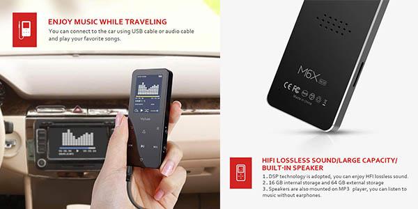 Victure reproductor de MP3 por Bluetooth con brazalete a precio de chollo
