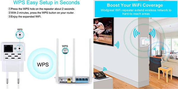 Repetidor Wi-Fi Wodgreat de 300 Mbit/s barato