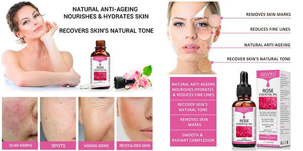 Aceite esencial de rosa Kizenka con vitamina C de 30 ml barato