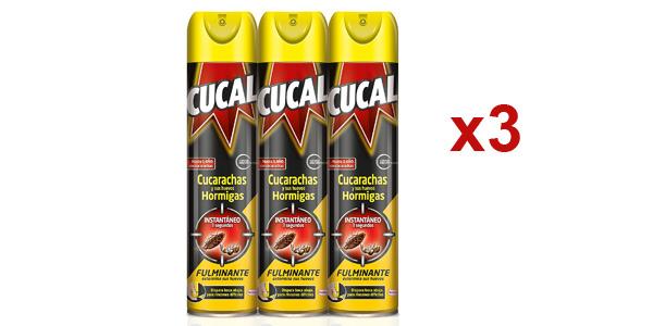 Pack x3 botes Cucal Aerosol Instant de 400 ml/ud barato en Amazon