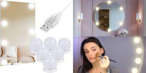 Anpro espejo de luces LED barato