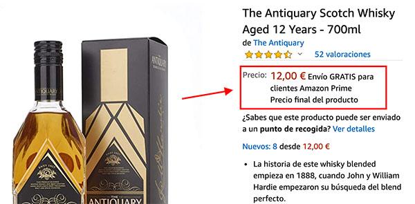 Precio Antiquary Whisky