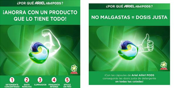 Ariel Pods 108 lavados barato en Amazon