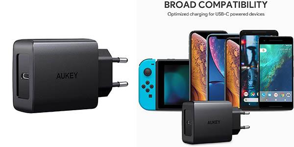 Aukey cargador USB C Power Delivery barato