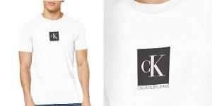 Camiseta Calvin Klein Center Monogram Box Slim para hombre barata en Amazon