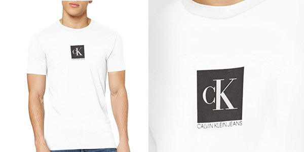Camiseta Calvin Klein Center Monogram Box Slim para hombre barata en Amazon
