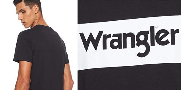 Camiseta Wrangler logo para hombre en oferta en Amazon