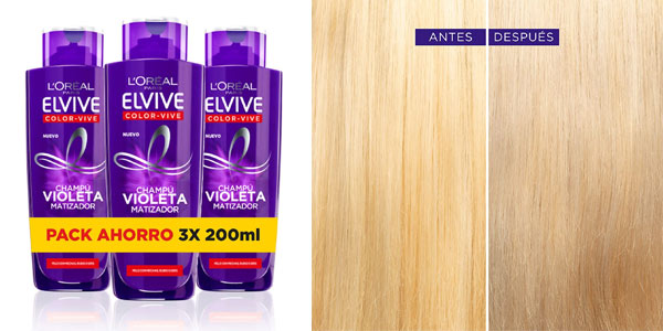 Champú violeta L'Óreal Elvive Color barato en Amazon