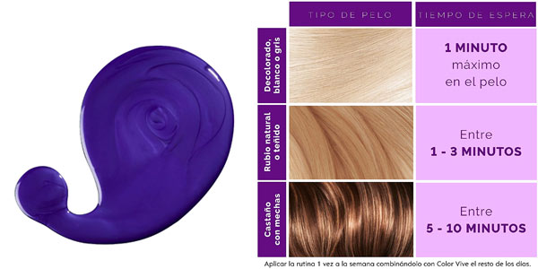 Champú violeta L'Óreal Elvive Color en oferta en Amazon