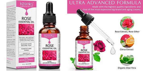 Chollo Aceite esencial de rosa Kizenka con vitamina C de 30 ml