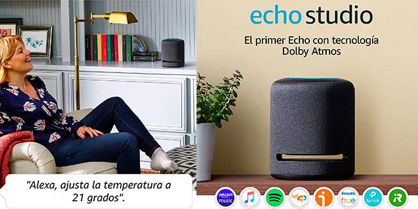 Chollo Altavoz inteligente Amazon Echo Studio con sonido de alta fidelidad y Alexa