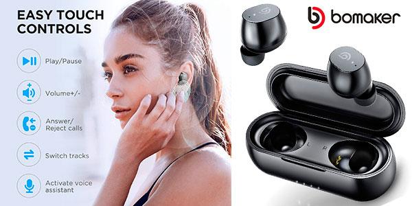 Chollo Auriculares Bomaker UK-SiFi Bluetooth 5.0 de carga rápida