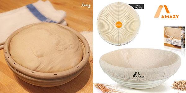 Chollo Cesta de fermentación de pan Amazy de 25 cm