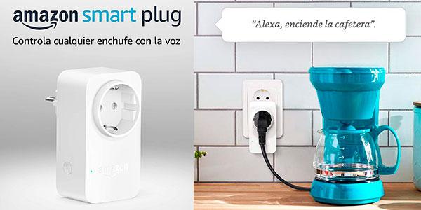 Chollo Enchufe inteligente Amazon Smart Plug Wi-Fi compatible con Alexa
