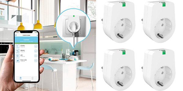 Chollo Pack de 4 Enchufes inteligentes Wi-Fi de 2.000 W