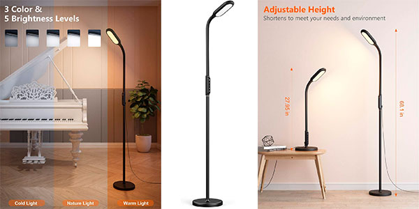 Chollo Lámpara de pie TaoTronics LED regulable con memoria y temporizador
