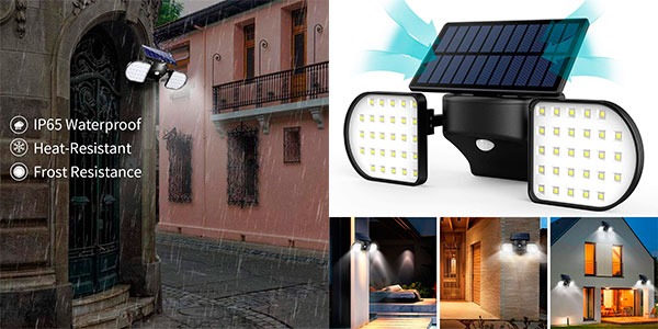 Chollo Luz solar exterior con sensor de movimiento