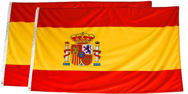 Chollo Pack de 2 banderas de España grandes (150 x 90 cm)