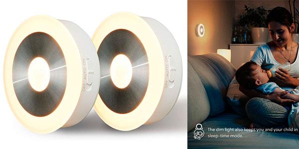 Chollo Pack x2 Luz nocturna LED Bedsure con sensor de movimiento