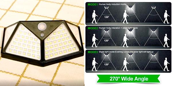 Chollo Pack de 4 luces solares LED de exterior Goodland