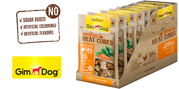 Chollo Pack x8 Bolsas GimDog de conos de comida para perros