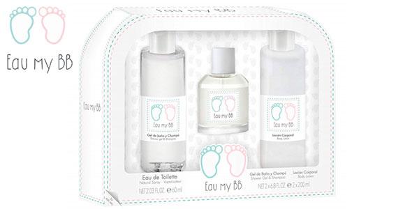 Chollo Pack Eau My BB con gel de baño y champú 200 ml + loción hidratante 200 ml + colonia 60 ml