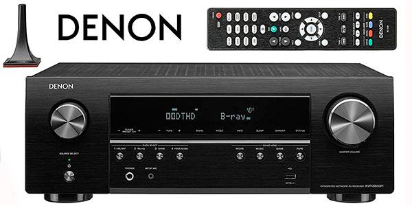 Receptor AV Denon AVR-S650H de 5.2 canales con control de voz