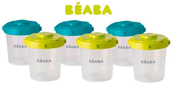Chollo Set Béaba de 6 potes de conservación de comida de 200 ml para bebés
