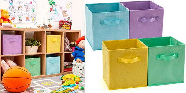 Chollo Set de 4 cajas para almacenar juguetes