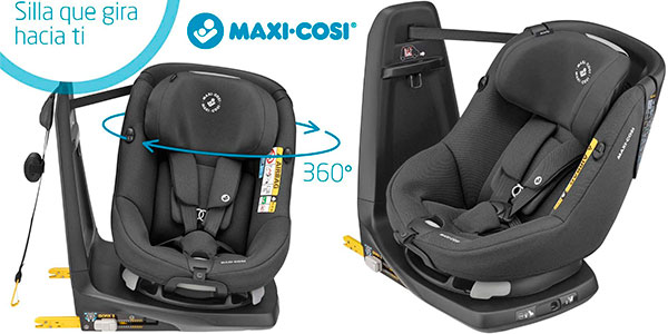 Chollo Silla de coche Maxi-Cosi Axissfix giratoria 360° para bebés