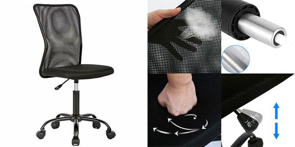 Chollo Silla de oficina giratoria de malla ergonómica