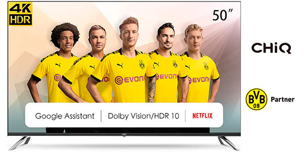"""Chollo Smart TV CHiQ U50H7A 4K UHD de 50"""" con Android TV"""