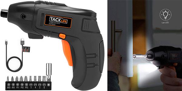 Chollo Atornillador eléctrico Tacklife recargable con 10 puntas
