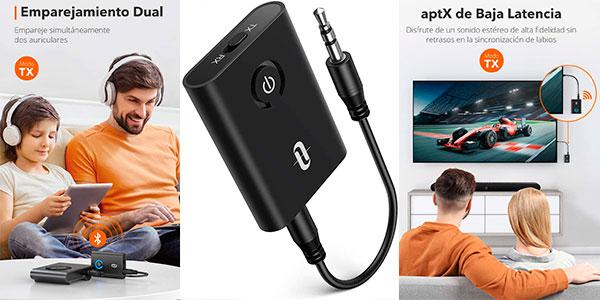 Chollo Adaptador transmisor TaoTronics 2 en 1 con Bluetooth 5.0
