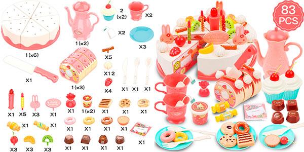Chollo Tarta de cumpleaños de juguete (83 piezas)